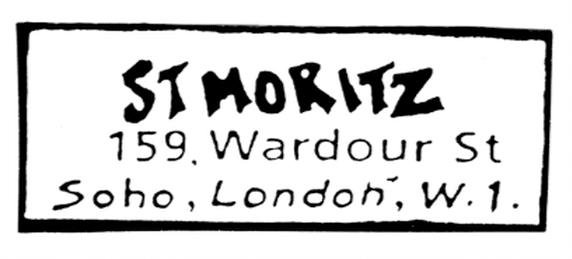 ST MORITZZ 159  Wardour St Soho London W1